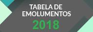 Tabela de Emolumentos – 2018
